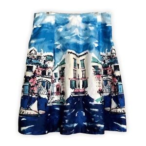 Charter Club Venice Print A-line Skirt Sz 12